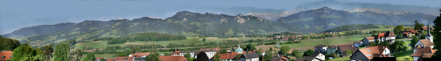 View of pre-alps from Marsens